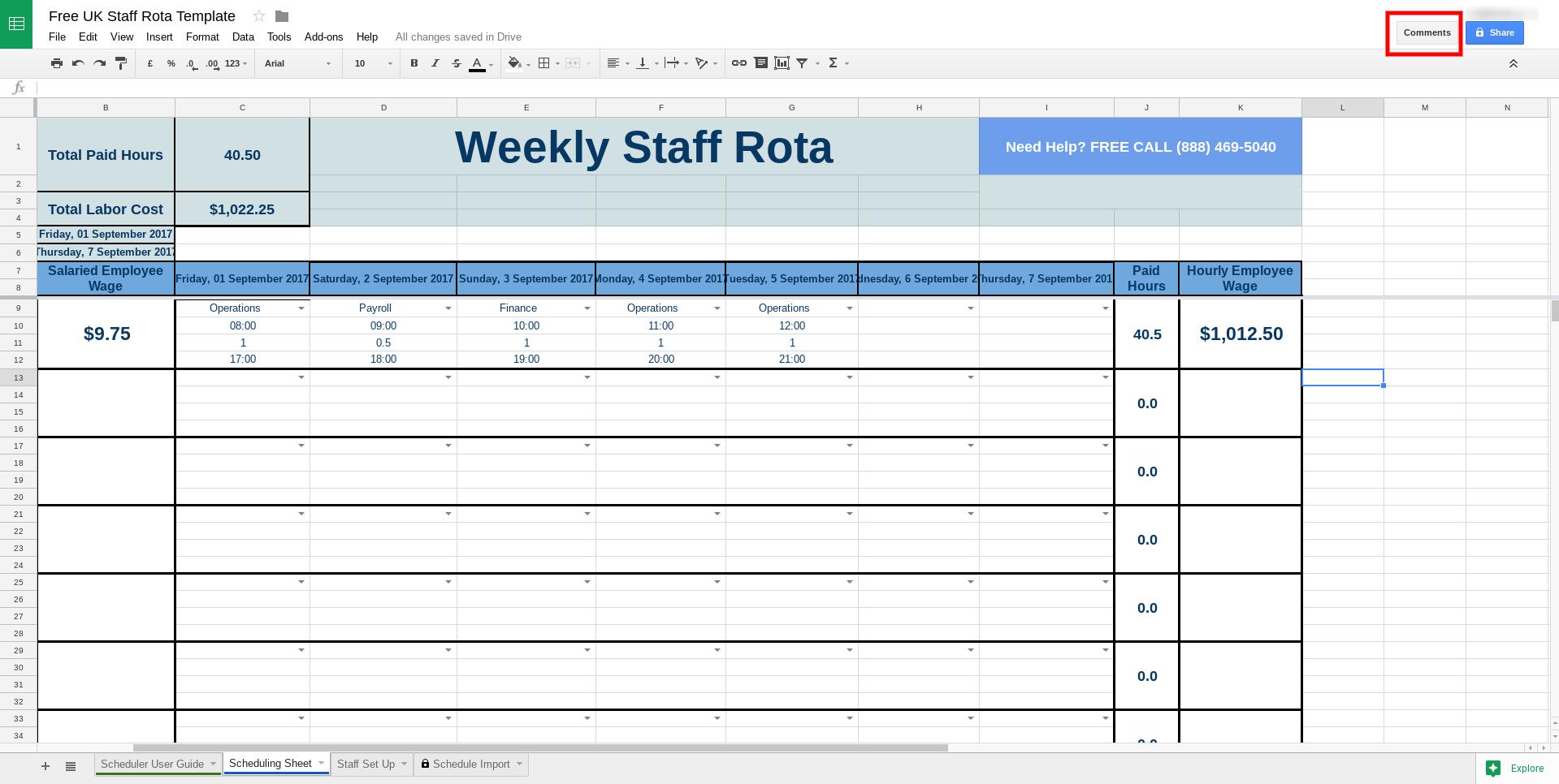 free rota template for excel tanda